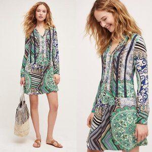 Anthropologie Tiny Caviana Lace Green Boho Dress